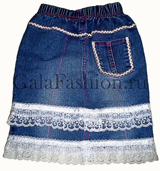 Пошив юбки с кокеткой для девочки