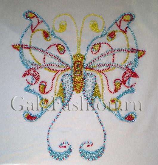 Вышивка бабочка для детской